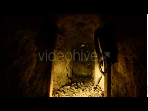 Abandon Gold Silver Mine At Night 7 - Stock Footage | VideoHive 10974474