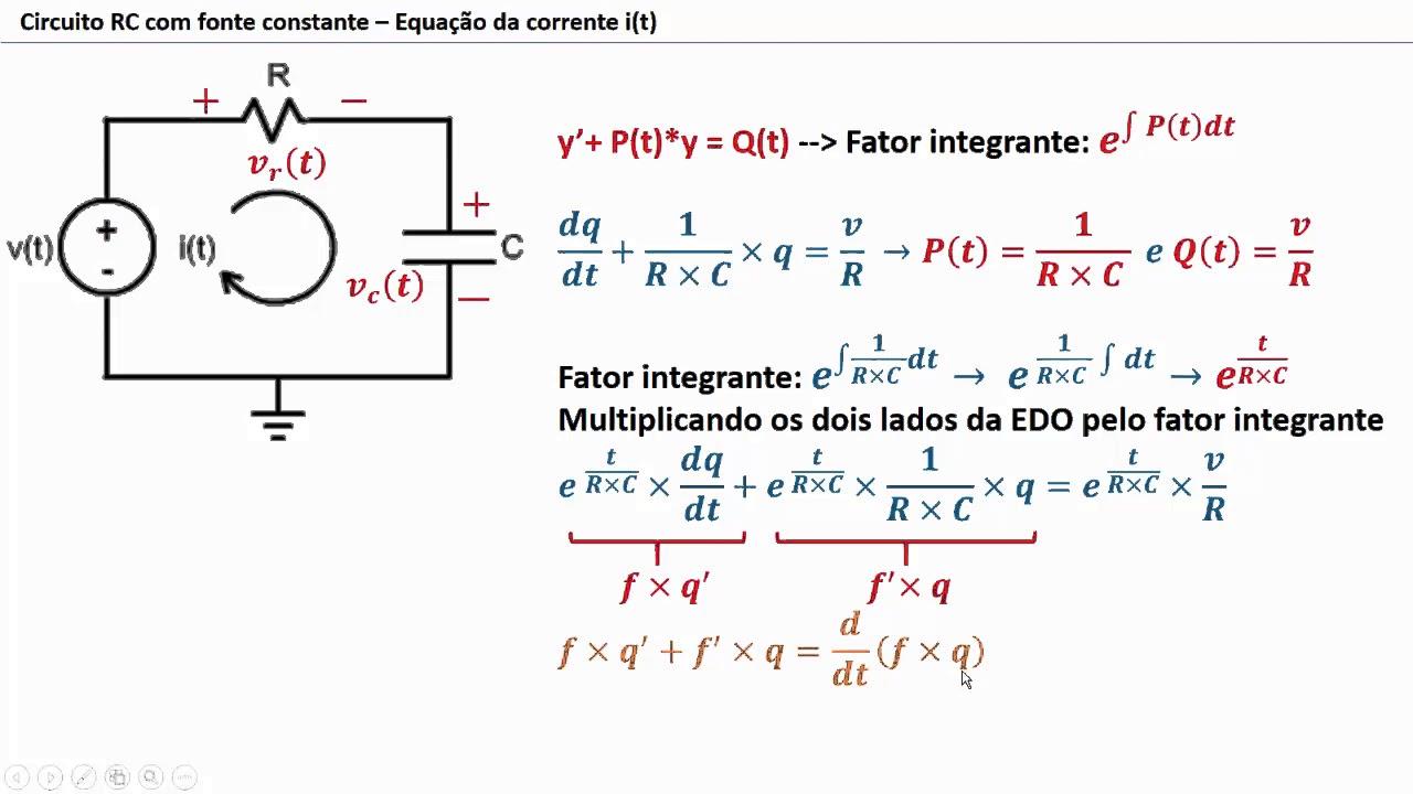 Circuito Rc : Circuito rc fonte constante edo da tensão no