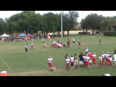 Brandon Morris #3 LB Davie Broncos 2009 120lb