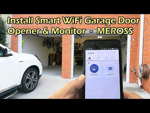 Install WiFi Garage Door Opener & Monitor - Meross MSG100