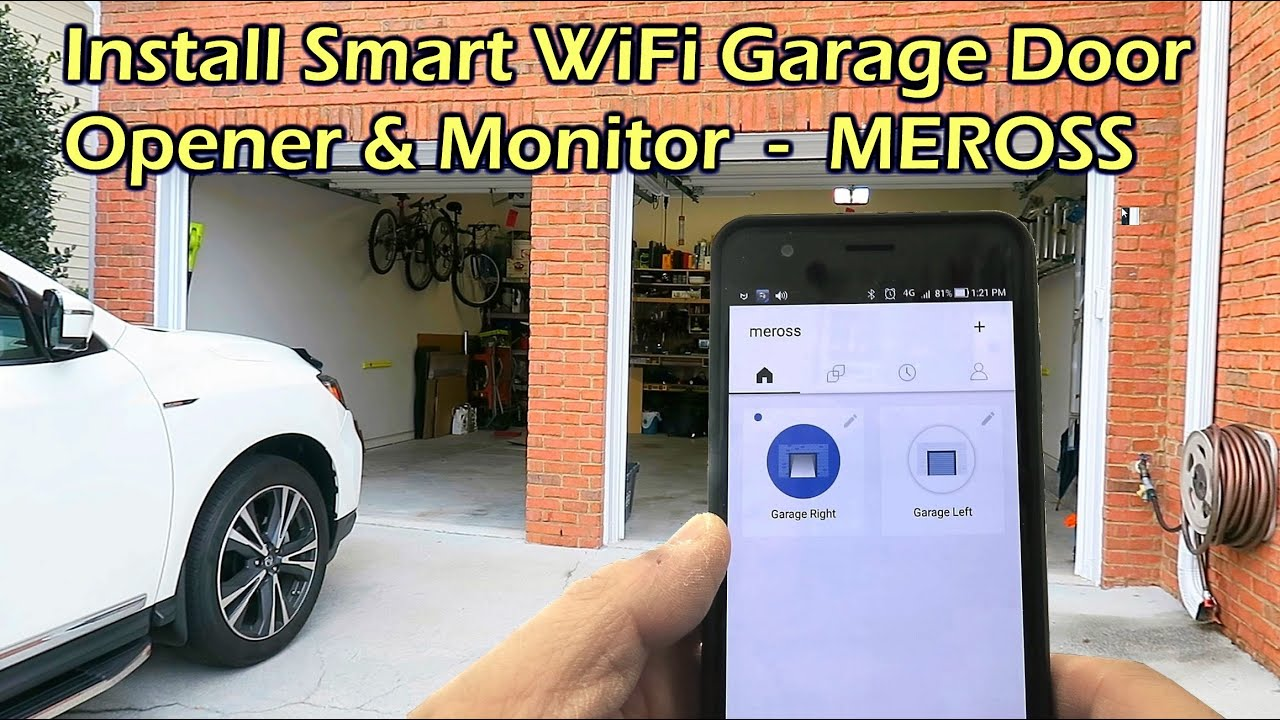 hight resolution of install wifi garage door opener monitor meross msg100