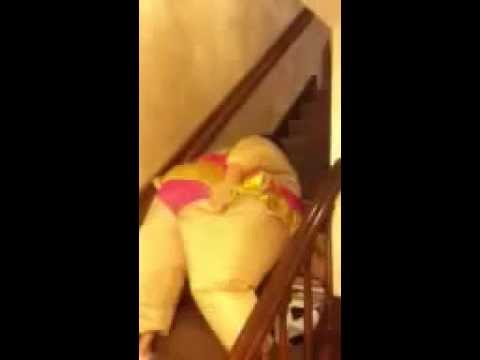 Bbw walking upstairs