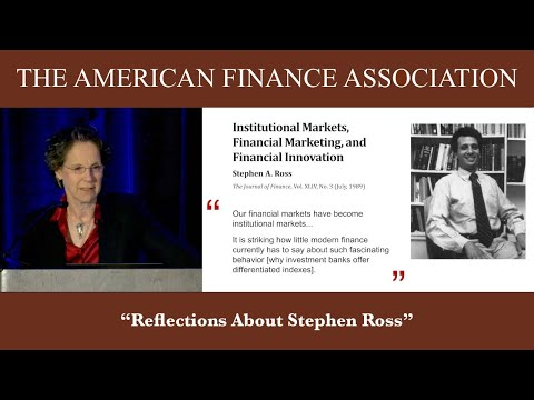 Reflections About Stephen Ross