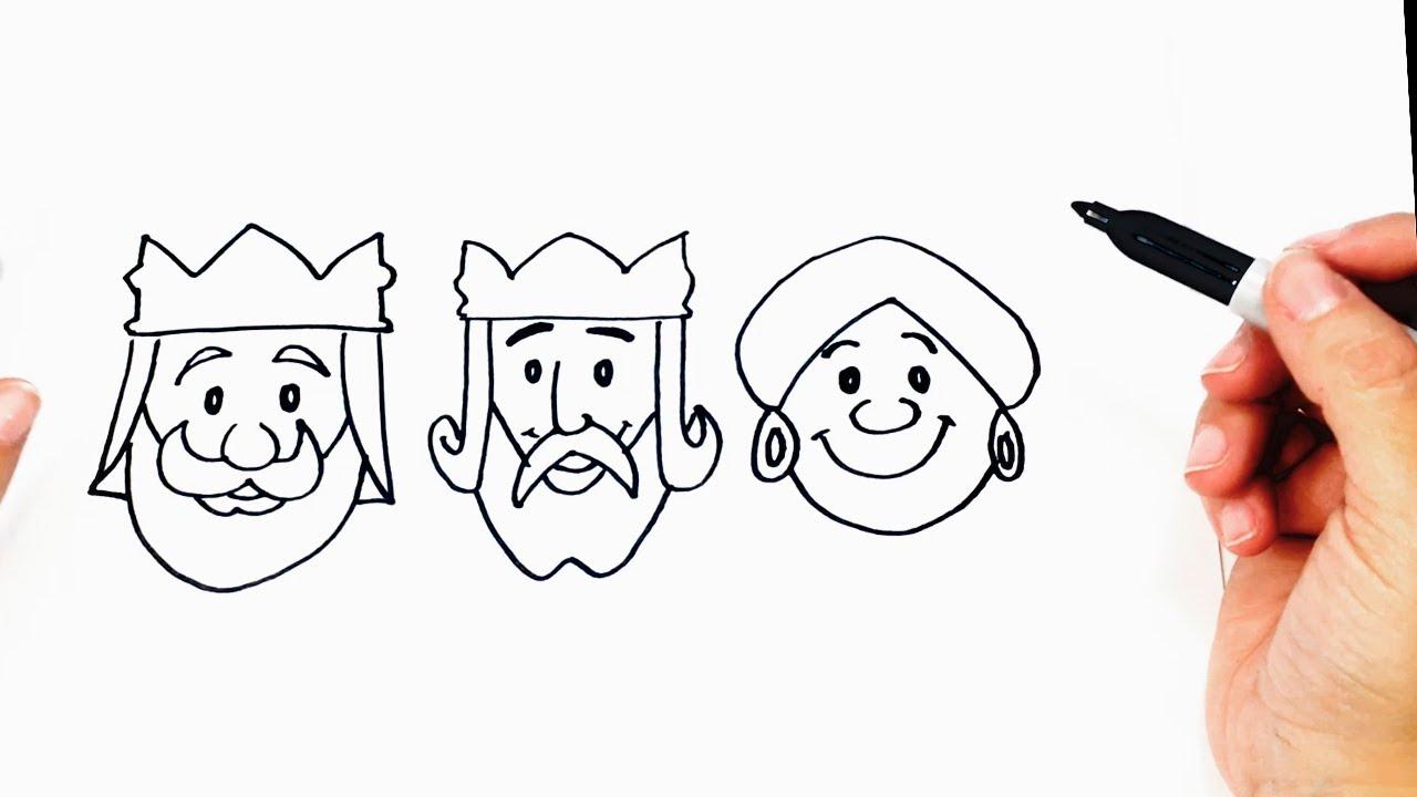Dibujos Para Colorear De Los Tres Reyes Magos: Cómo Dibujar A Los Reyes Magos Paso A Paso