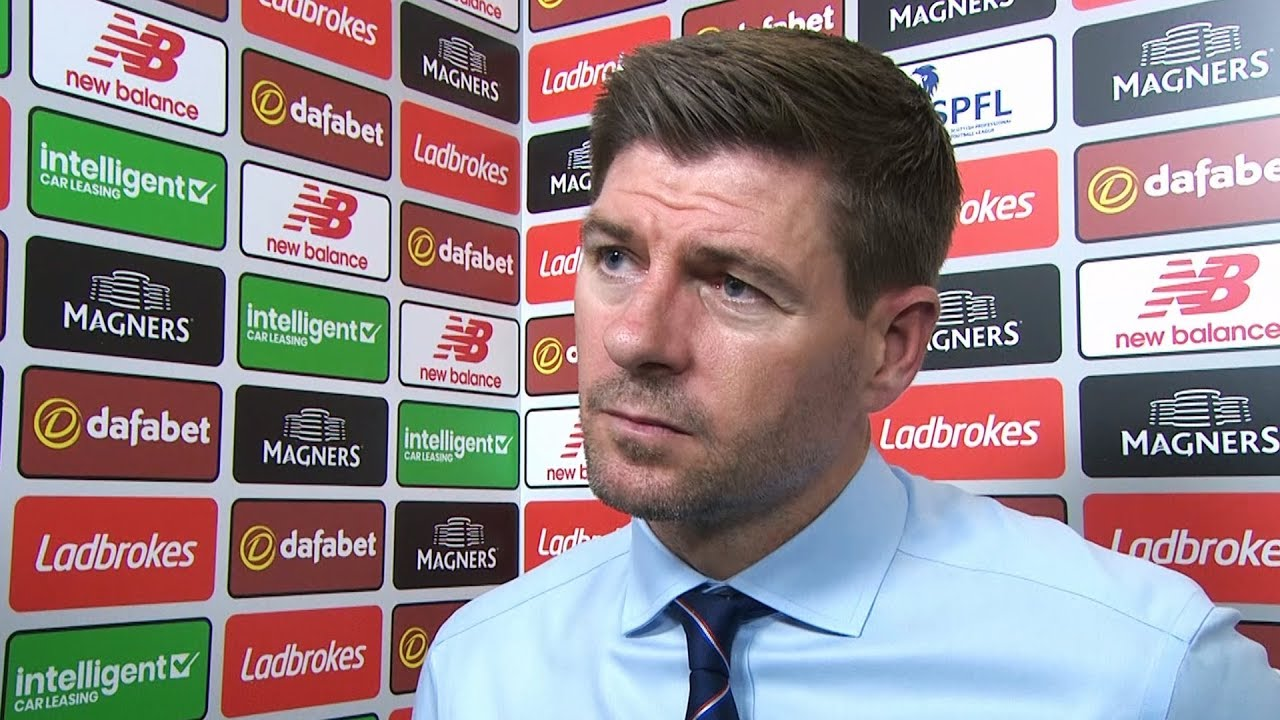 Steven Gerrard critical of refereeing decisions after Old Firm defeat