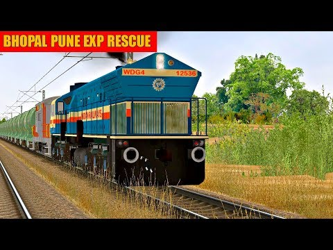 Bhopal Pune Exp Rescue | Loco Change| WDG4 12536  in MSTS Open Rails by Sumit Mehrotra