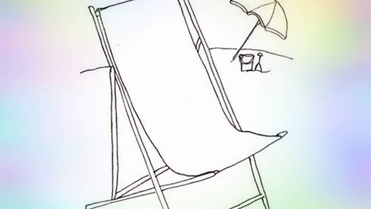 how to draw a beach chair step by step youtube