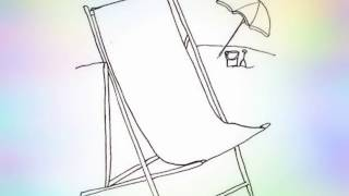 How to draw a beach chair step by step