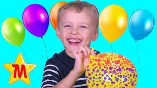 Max Plays with Balloons Educational Video For Kids