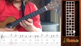"How to Read Ukulele Tabs for ""Auld Lang Syne"" - 21 Songs in 6 Days: Learn Ukulele the Easy Way"