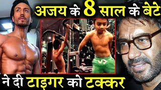 Ajay Devgn's 8 Yrs Old Son Yug Gives Tough Competition to Tiger Shroff