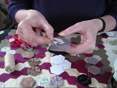 1)  Traditional English Hexagon Patchwork Demonstration