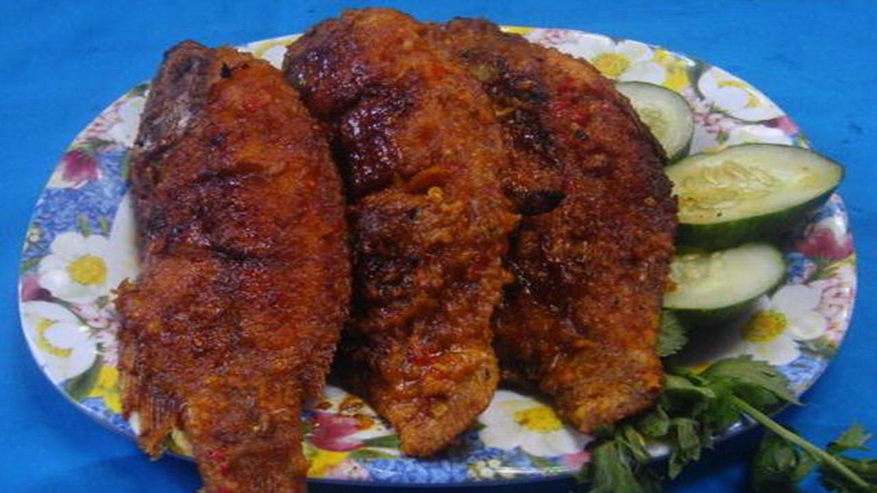 cara memasak dan resep ikan kakap bakar bumbu rujak   youtube