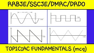 ACFundamentals and ac circuit mcq 2019 exams!! important questions!!for rrb je,sscje!!