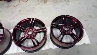 Corvette Z06 Black Cherry Chrome Rims