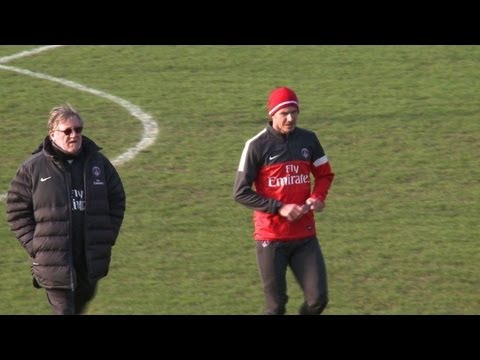 Beckham Trains With PSG For First Time