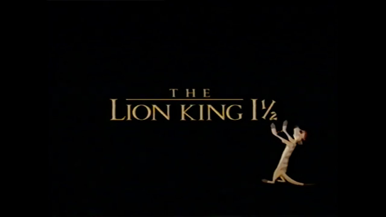 Lion King 1 1 2 Movie Trailer Vhs 2004 Youtube