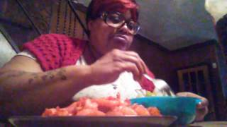 Funyuns and takis fried shrimp Mukbang