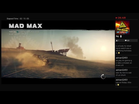 Jake Meoff's Playin Mad Max!!!!Live PS4 Broadcast