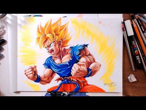 Drawing Dragon Ball: Super Saiyan Goku | drawholic