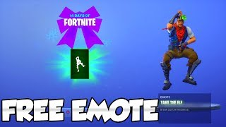 "Fortnite FREE ""Take The ELF"" EMOTE! 