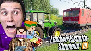 Zug gegen TRAKTOR! Wer ist STÄRKER? | Landwirtschafts Simulator 2019 #12