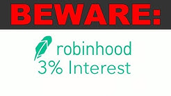 A warning about Robinhood's 3% Checking Account.