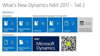 What´s New Microsoft Dynamics NAV 2017 Teil 2