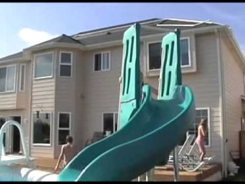 summit usa above ground pool slide - Diy Above Ground Pool Slide
