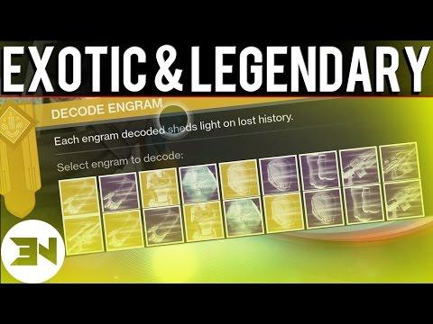 24 Exotic & Legendary Engram Opening ! - Destiny The Taken King Exotic Grind