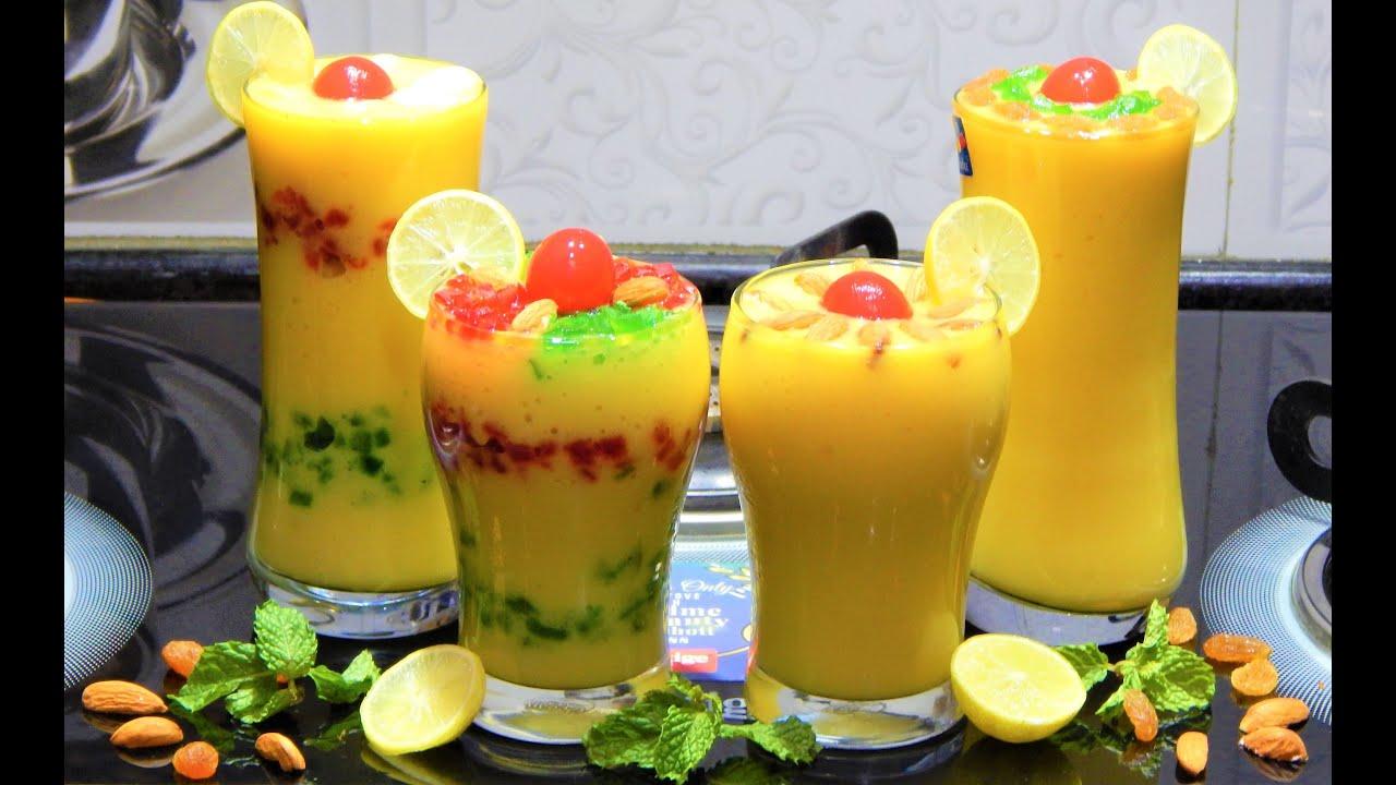 Mango shake   Mango Milkshake Recipe   Fresh Mango Shake in Few Minutes   Milkshake Smoothie