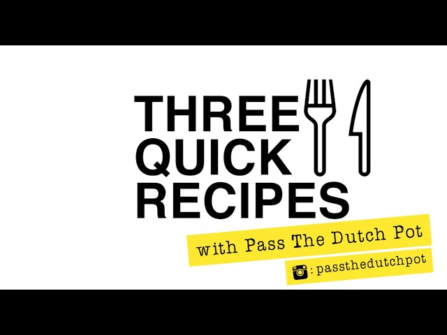 Three Quick Recipes With Chickpeas | TRiBE's Toolbox