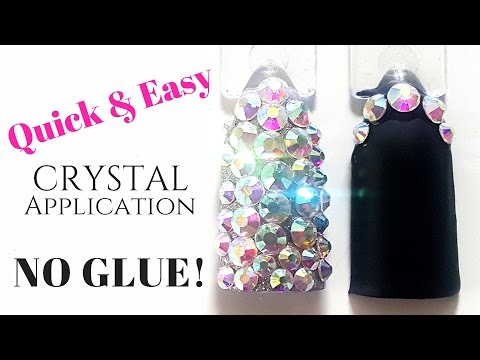 NO MORE GLUE!! Best application for long lasting crystal nails!  | LUXAPOLISH