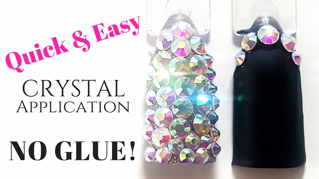 NO MORE GLUE!! Best application for long lasting crystal nails ...