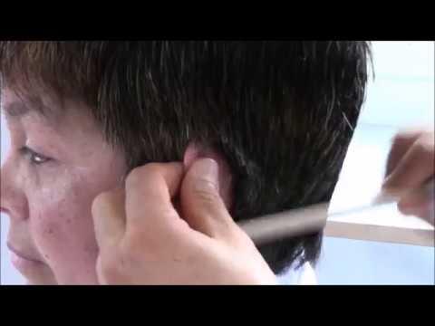 Corte corto pelo grueso