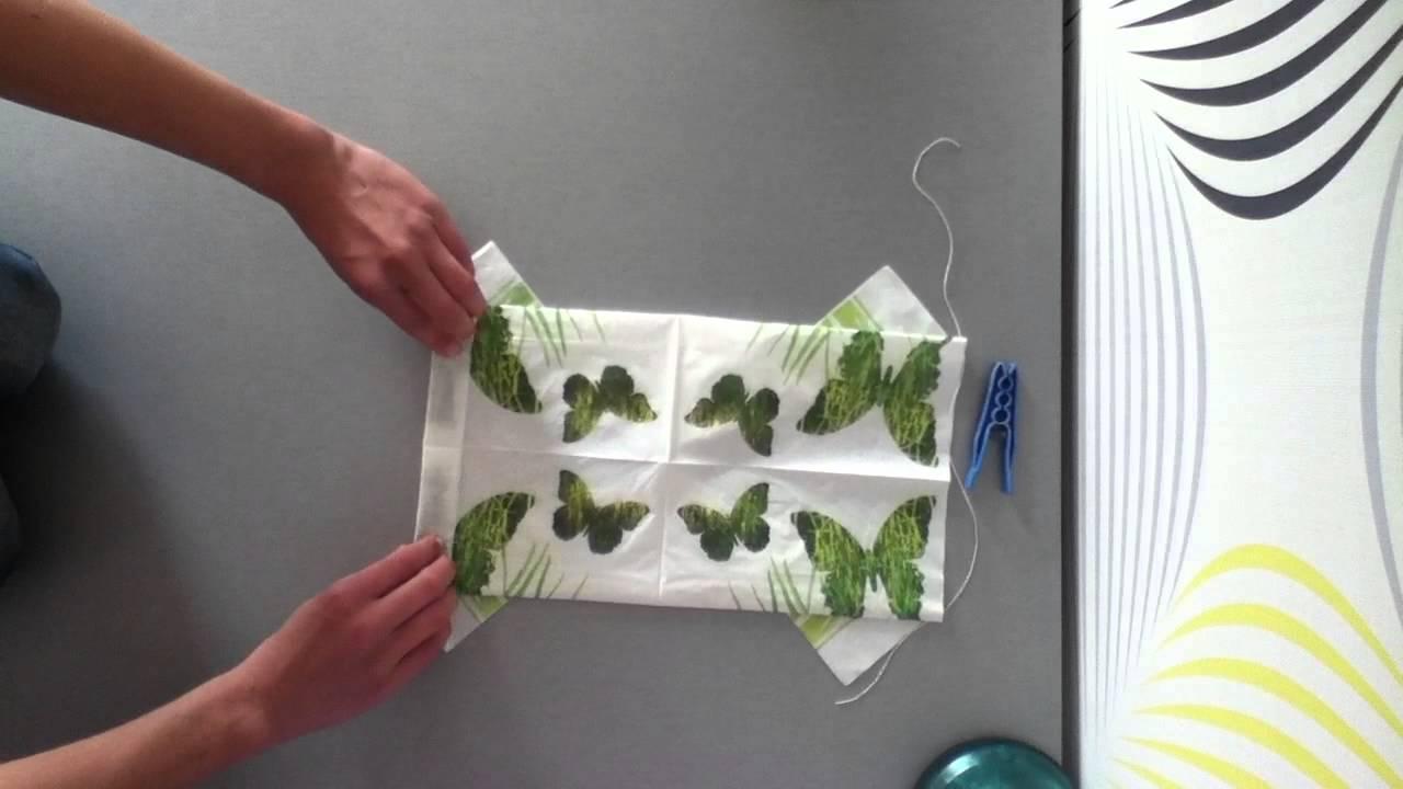 comment plier une serviette en forme de papillon d co de. Black Bedroom Furniture Sets. Home Design Ideas