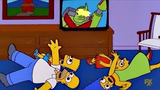 The Simpsons gets hypnotised by Japanese TV