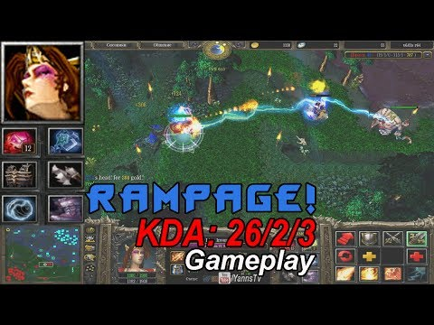 видео: dota БЕШЕНАЯ lina gameplay + rampage!!!