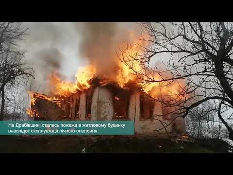 Телеканал АНТЕНА: На Драбівщині сталася пожежа в житловому будинку внаслідок експлуатації пічного опалення