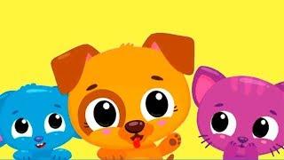 Видео для детей про маленького котенка и щенка | учим цвета с малышами в игре для детей
