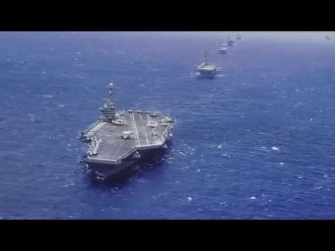 กองทัพเรือสหรัฐขนาดใหญ่แสดงพลังในแปซิฟิกคำเตือนไปยังประเทศจีน YouTube 720p