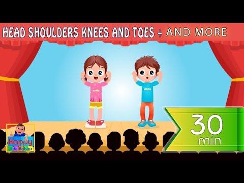 Head Shoulders Knees And Toes  | + More Kids Songs | Happy Little Babies !