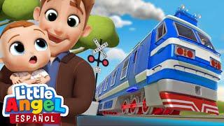 Mi Primer Viaje en Tren 🚂| Canciones Infantiles | Little Angel Español - Bebé Juan