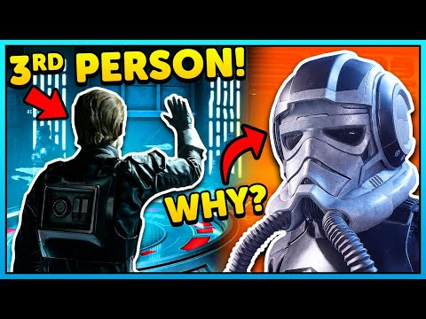 Star Wars Squadrons Skins are USELESS? (3rd Person Emote Gameplay)