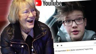 Meine OMA reagiert auf mein YOUTUBE Video... 😳