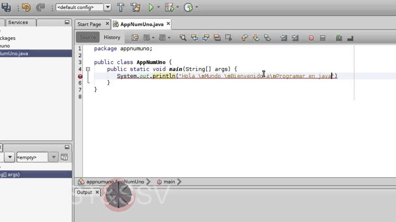 Como programar en java mostrar mensaje en consola con for Como programar en java
