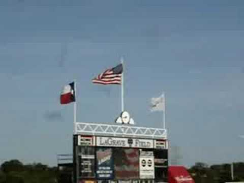 National Anthem and Military Jet Flyover at Fort Worth Cats