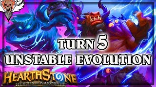 Turn 5 Unstable Evolution ~ Hearthstone The Boomsday Project