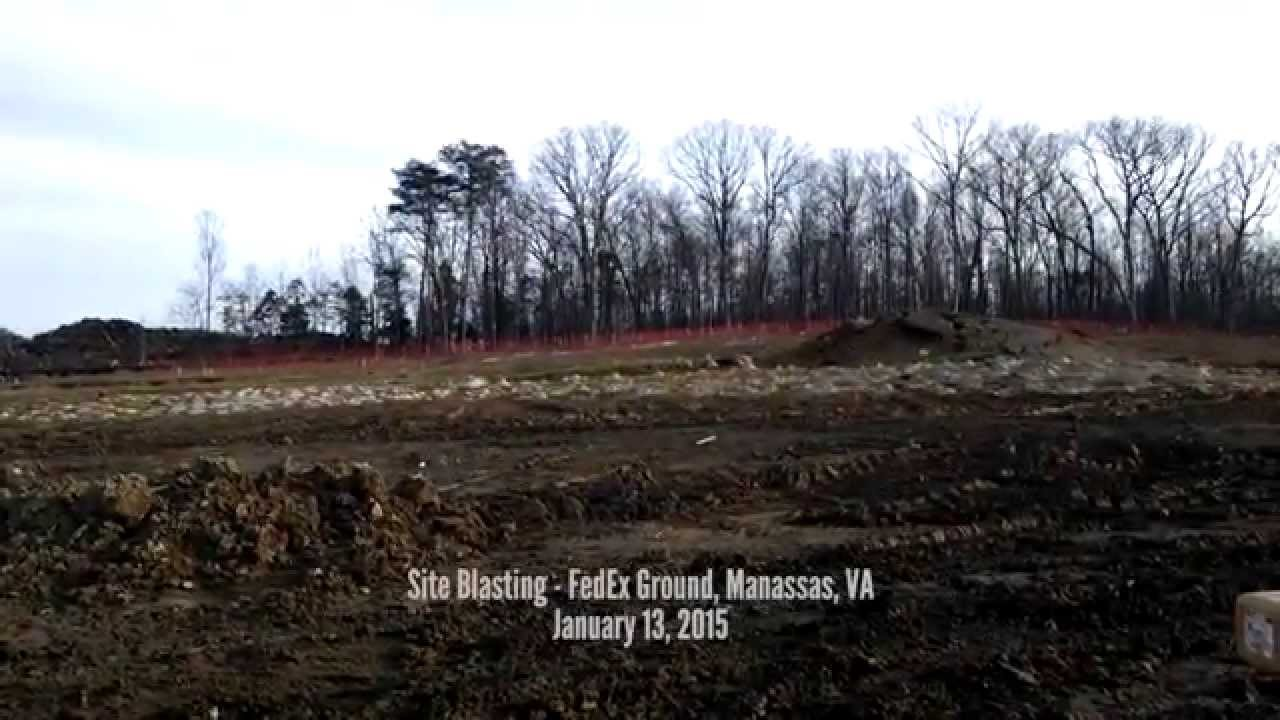 Cooper Construction - Site Blasting (Ground Level View) - FedEx Ground Manassas, VA