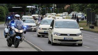 Protest gegen Minicars: Taxifahrer demonstrierten in Kassel